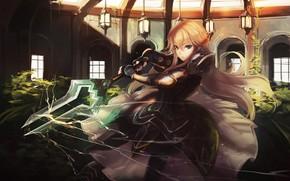 Картинка sword, armor, anime, ken, blade, manga, japanese, bishojo