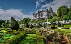 Картинка парк, замок, Шотландия, Scotland, Dunrobin Castle, Замок Данробин, Golspie