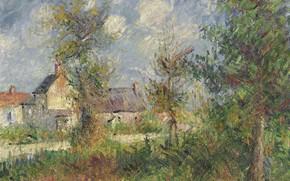 Картинка картина, Гюстав Луазо, Gustave Loiseau, Пейзаж в Нормандии