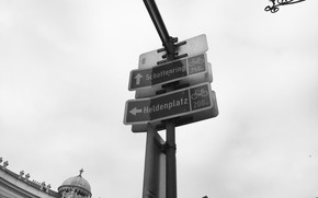 Картинка Указатель, Вена, Дорожный знак