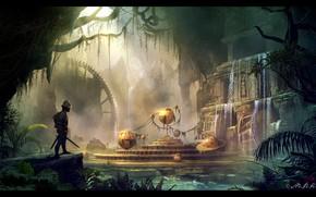 Картинка шары, воин, храм, Ancient mechanism, Владимир Манюхин