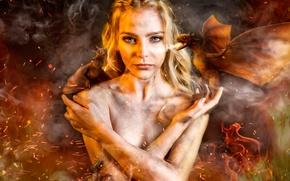 Обои Кхалиси, Игра Престолов, Косплей, Евгения Марусова, девушка, Daenerys Targaryen, драконы