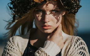 Картинка взгляд, лицо, портрет, венок, Alina Stolzenburg