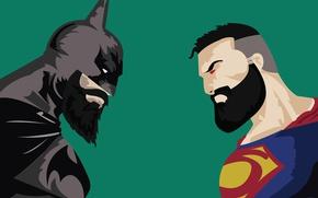 Обои Batman v Superman: Dawn of Justice, yuusha, strong, powerful, Batman Vs Superman With Beard, bat, ...