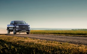 Картинка поле, Chevrolet, пикап, 2018, Silverado