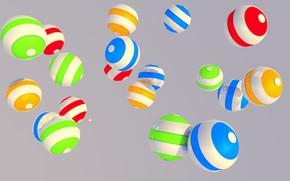 Картинка шарики, краски, объем