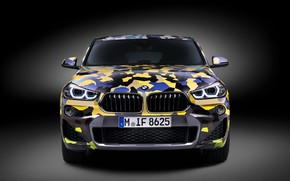 Картинка Concept, вид спереди, 2018, кроссовер, Digital Camo, BMW X2