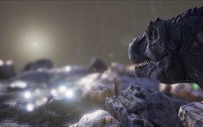 Картинка game, rain, T-Rex, ARK Survival Evolved
