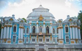Картинка голубой, здание, архитектура, дворец, Пушкин, барокко