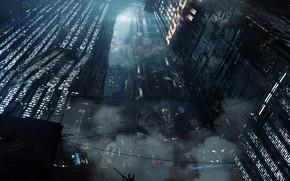 Картинка город, огни, небоскрёбы, BLADE RUNNER 2049, Black Out 2022