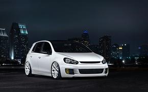 Картинка Volkswagen, golf, White, GTI, MK6