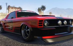 Картинка Mustang, тачки, Grand Theft Auto V, gta 5, Gta, Gta Online, Vapid Ellie