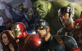 Обои Film, Captain America, Капитан Америка, Кино, Том Хиддлстон, Tom Hiddleston, Loki, Скарлетт Йоханссон, Clint Barton, ...