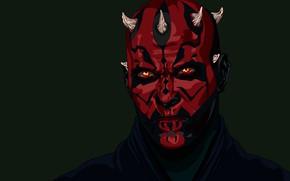 Картинка Звёздные Войны, Татуировки, Дарт Мол, Лорд ситхов, Забрак, Орден Ситхов