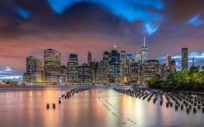 Картинка New York, Manhattan, Brooklyn Bridge Park