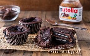 Картинка еда, шоколад, крем, выпечка, кексы