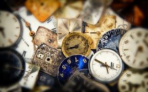 Картинка макро, фон, часы