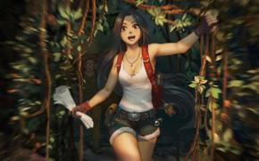 Картинка лес, черепаха, арт, поход, детская, исследователи, random practice 05, puz lee, She found something !!
