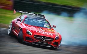 Картинка спорт, занос, Mercedes, дрифт, трек, AMG, рендер, GT S