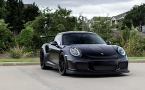Картинка Porsche, Black, Matte, GT3RS, 991