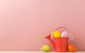 Картинка яйца, пасха, лейка, Праздник