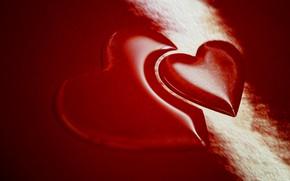 Картинка макро, сердце, цвет