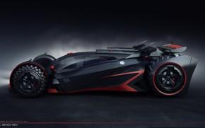 Картинка сумрак, автомобиль, batmobile concept