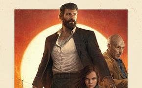 Обои cinema, girl, Wolverine, Hugh Jackman, X-Men, Logan, man, Marvel, hero, film, Laura, powerful, strong, X-23, ...