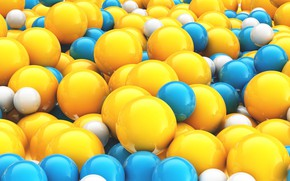 Обои шарики, объем, краски