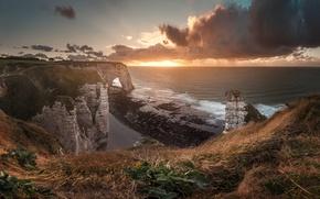 Картинка море, свет, скалы, берег, утро