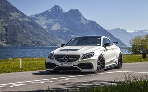 Обои Mercedes, C205, PD65CC, мерседес, C-Class, Prior-Design, купе, суперкар, AMG, Coupe, Mercedes-Benz