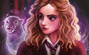 Картинка арт, Harry Potter, Hermione Granger, by Ludmila-Cera-Foce