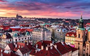 Картинка город, здания, дома, Прага, Чехия, Prague, Old Town of Prague