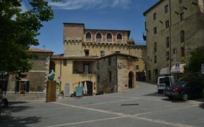 Картинка Италия, Italy, Street, Тоскана, Italia, Toscana, Tuscany, Улицы, Сан-Кашано-деи-Баньи, San Casciano dei Bagni