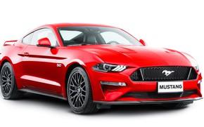 Картинка красный, Ford, Fastback, 2018, Mustang GT