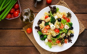 Картинка зелень, масло, Сыр, томат, Макароны