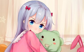 Картинка kawaii, bear, rabbit, anime, pretty, manga, japanese, oriental, sugoi, bishojo, kuma, EroManga-Sensei, mussune, Sagiri Izumi, …