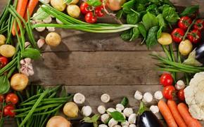 Картинка зелень, грибы, лук, овощи, капуста