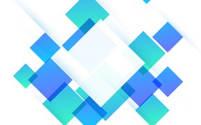 Обои абстракция, green, обои, abstract, white, геометрия, blue, background, squares
