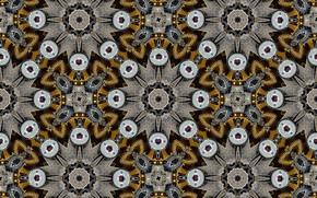 Обои калейдоскоп, узоры, формы, цвет