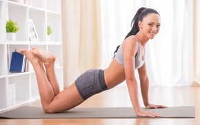 Обои yoga, leggings, activewear, exercises, beauty, health, fitness, pilates, workout, crossfit