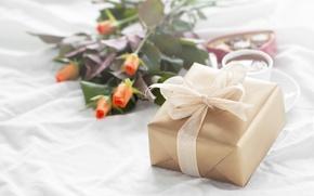Картинка розы, конфеты, love, heart, romantic, chocolate, gift, roses, valentine`s day