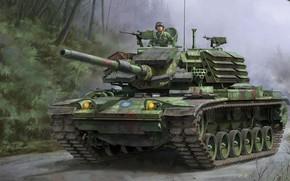 Обои средний танк, M48H, Brave Tiger, ROC, с доработанной башней M48H, CM-11, установленной на корпус M60, ...