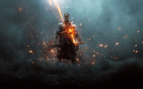 Обои Оружия, Батлфилд 1, Взгляд, Electronic Arts, Battlefield 1, Огонь, Дым, Огнемёт, They Shall Not Pass, ...