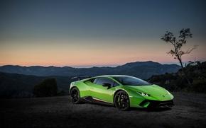 Картинка Lamborghini, Huracan, montain, Huracan Performante, Lamborghini Huracan Performante