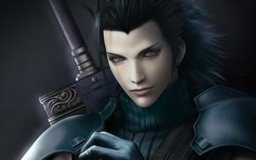 Картинка волосы, солдат, парень, Final Fantasy 7, Crisis Core, zack fair