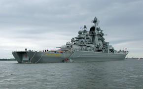 Картинка флот, петр великий, атомный ракетный крейсер