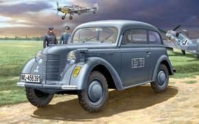 Картинка Opel, Kadett, Двухдверный кабриолимузин, западногерманский автомобиль среднего класса