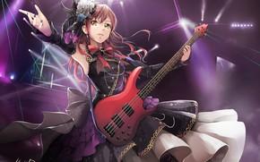 Картинка девушка, музыка, гитара, аниме, арт, hiroki ree, imai lisa, bang dream!