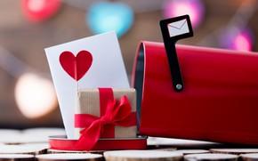 Картинка письмо, любовь, подарок, сердце, love, happy, heart, romantic, Valentine's Day, gift